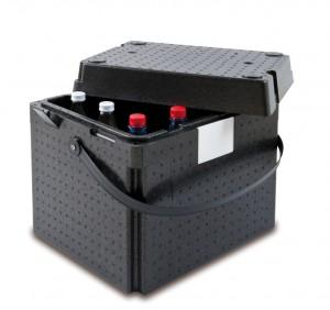 Pojemnik termoizolacyjny, czarny z uchwytem, V 31 l