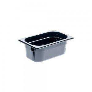 Pojemnik z poliwęglanu, czarny, GN 1/4, H 100 mm