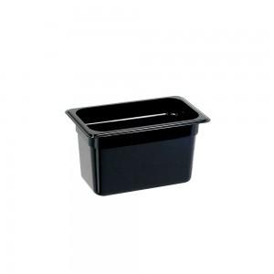 Pojemnik z poliwęglanu, czarny, GN 1/4, H 150 mm