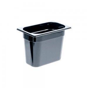 Pojemnik z poliwęglanu, czarny, GN 1/4, H 200 mm