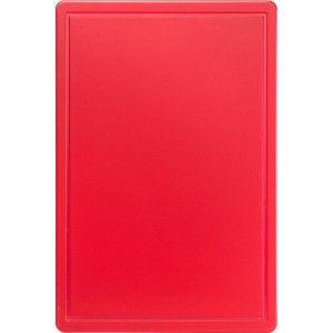 Deska do krojenia HACCP, 600x400x18 mm czerwona