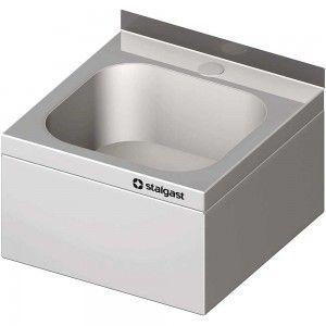 Umywalka stalowa, zabudowana, 400x410x240 mm