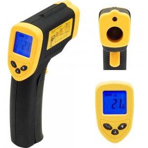 Termometr elektroniczny, bezdotykowy, zakres od -50°C do +380°C