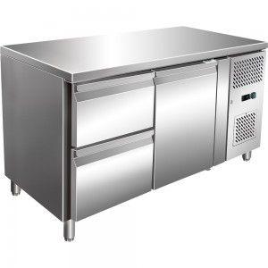 Stół chłodniczy 1 drzwiowy z szufladami, agregat po prawej stronie