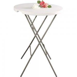 Stół cateringowy barowy składany okrągły fi 800x1100