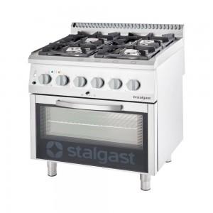 Kuchnia gazowa z piekarnikiem elektrycznym, 4-palnikowa, P 24+7 kW, U G30