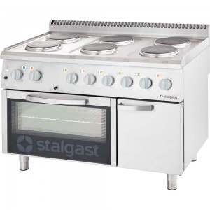 Kuchnia elektryczna, 6-polowa z piekarnikiem elektrycznym, 15.6+7 kW