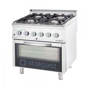 Kuchnia gazowa z piekarnikiem elektrycznym, 4-palnikowa, P 22.5+7 kW, U G30