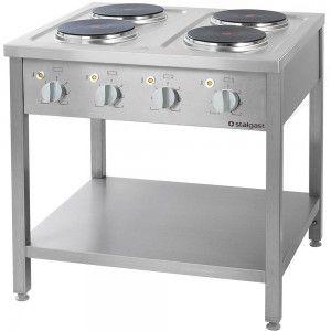 Kuchnia elektryczna, 4-płytowa, 10.4 kW