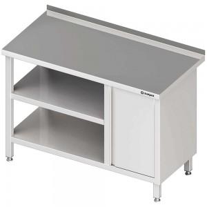 Stół przyścienny z szafką (P),i 2-ma półkami 1600x700x850 mm