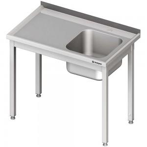 Stół ze zlewem 1-kom.(P),bez półki 700x600x850 mm spawany