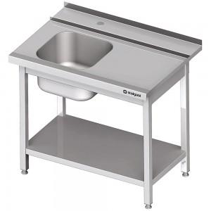 Stół załadowczy(P) 1-kom. z półką do zmywarki STALGAST 1400x750x880 mm skręcany