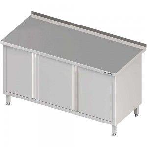 Stół przyścienny z szafką (L),drzwi skrzydłowe 1400x600x850 mm