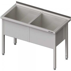 Stół z basenem 2-komorowym spawany 1400x600x850 mm h=400 mm