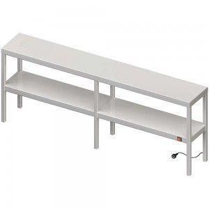 Nadstawka grzewcza na stół podwójna  1700x300x700 mm
