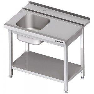 Stół załadowczy(P) 1-kom. z półką do zmywarki STALGAST 900x750x880 mm skręcany