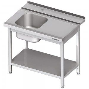 Stół załadowczy(P) 1-kom. z półką do zmywarki STALGAST 1100x750x880 mm spawany