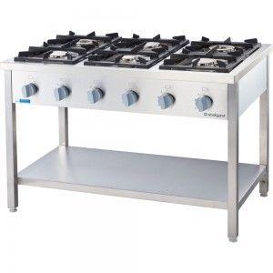 Kuchnia gazowa, 6-palnikowa, 900 mm, 36.5 kW, G30